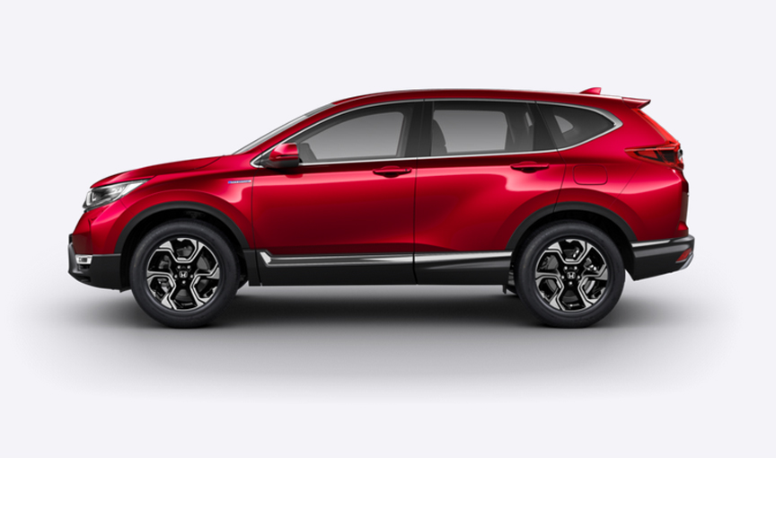 Honda CR-V Hybrid - Available in Premium Crystal Red Metallic